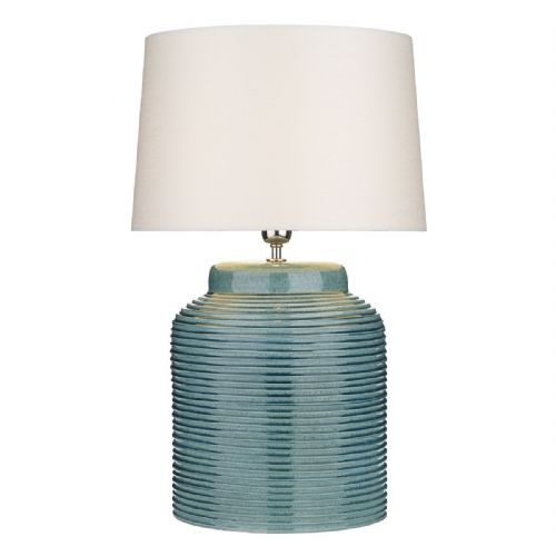 Tidal Table Lamp Ribbed Small Blue Base Only TID4123 (7-10 day Delivery)